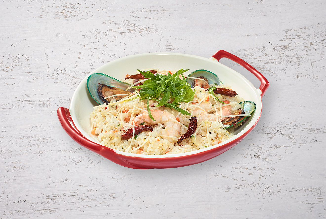 SPICY GARLIC SEAFOOD RICE